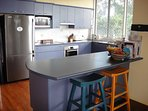 Spacious kitchen with modern appliances
