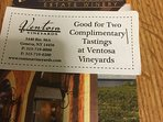 Wine Tasting Vouchers for all our Guests