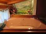 The large 5'/7' indoor whirlpool tub