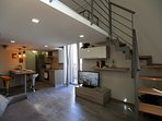 Villa Rosa - Ap. n. 1 'IRIS' - Soggiorno - Living Room