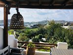 Enjoy the beautiful views from the kitchen veranda which overlooks the private garden