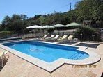The heated pool and large patios are the centre of your holiday outdoors.
