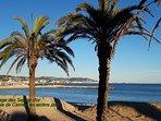 plage de sable fin: Les sables d'or vue sur la baie de Cannes Beach: Sables d'or view Bay of Cannes