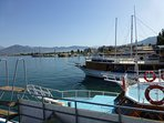 Fethiye harbour, just departing on the 12 Island tour.