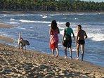 Praia de Guaiú 35 km de casa.