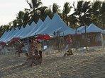 Fim de tarde na Praia de Taperapuan.