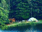 Camp by the lake