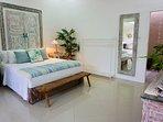 Bed 2  Wifi, Aircon celing fan, smart TV, ensuite, pool view, writing desk