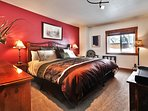 Master Bedroom with King Size Comfy Bed and Designer Bedding