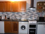 Wheel Lodge kitchen is furnished for your self-catering stay