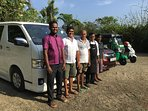 Villa Mandalay team and fleet of vehicles