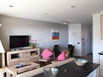 dining and living room with access to the terrace with sea views-SA PUNTA COSTA BRAVA