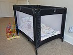 Cot with bedding and changing matt can be provided – no charge. Plus high chair for dining area.