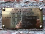 Plaque dedicated to Brian for his hard work alongside me, and dedicated to Mum.