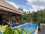 Out of the ordinary! A gem among breathtaking jungle and ricefields! Enjoy pool, kidspool &jacuzzi