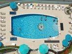 Giant salt water pool