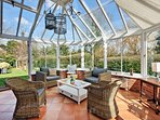This suntrap is the perfect place to host friends or family for an aperitivo or cup of tea and cake.