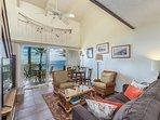 Living room with beautiful ocean views!
