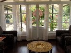 With panoramic windows around, each side offers a lovely view