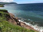 Cliff line below cottage (Guest Photo - Dan H)