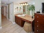 Master bath with vanity area