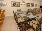 Formal dining area w/seating for 6