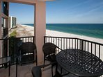 Alfresco dining from private balcony overlooking the Gulf