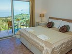 At Spileo House Penthouse you wake up in this bed to that view!