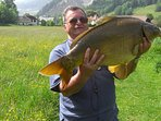 Riesenfang am Talhofsee.  Karpfenkoloss. Petri Heil
