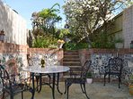Your own private courtyard - perfect for alfresco dining