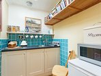 Your kitchenette, stocked with a luxury continental breakfast. All topped up during your stay.