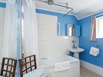 Private bathroom with overhead shower. All towels provided.