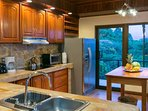 This kitchen has all modern appliances and is full equipped.