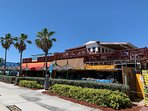 Captain J's offers beachside dining, and the upper deck provides ocean views