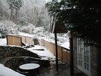 Winter snow fall.