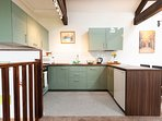 Brand new kitchen with high gloss cupboards