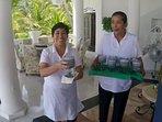 Pilar and Pati greet you with Margaritas
