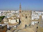 Imagen panorámica de la ciudad desde la muralla del alcázar