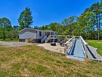 The property sits on 3 acres bordering the Broad Creek.