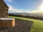 Stunning views from the private hot tub