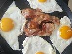 Oeuf au lard petit déjeuner