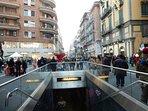 Fermata della metro in via Toledo
