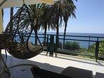 Spacious balcony over the gardens and sea