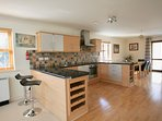Kitchen Area. Fully equipped with appliances and utensils for cooking for up to 7 people.