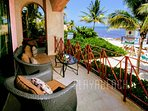 Spectacular ocean views from the lounging area