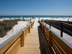 Private community boardwalk to beach