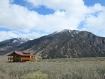 The cabin sits on 19 acres