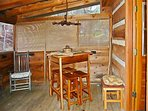 Screened in Deck w/ Table and Chairs on Deck