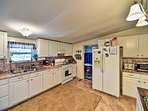 Ample counter space and updated appliances make cooking a breeze.