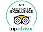 Tripadvisor Certificate of Excellence awarded for consecutive years